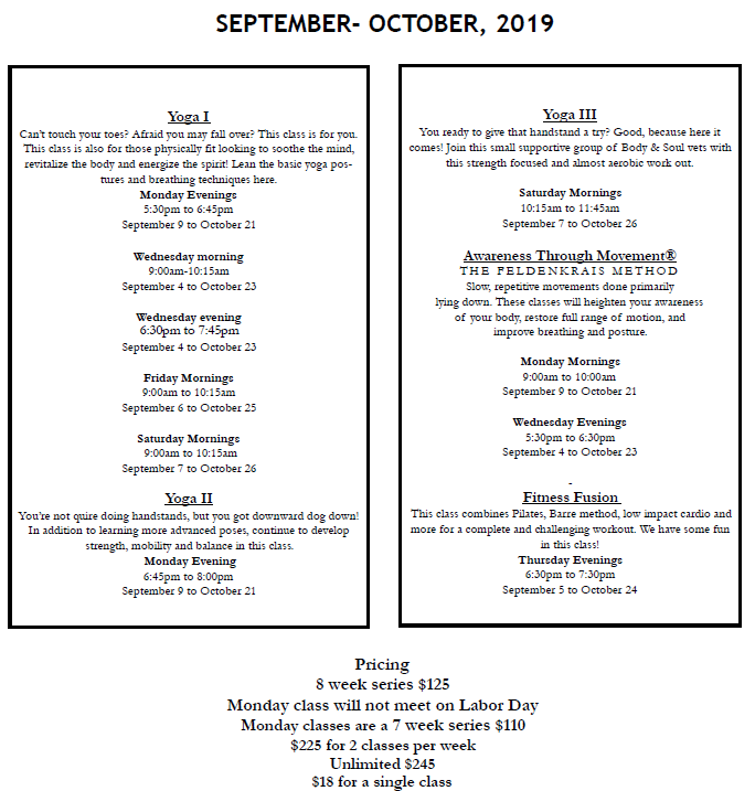 Sept 2019 classes2