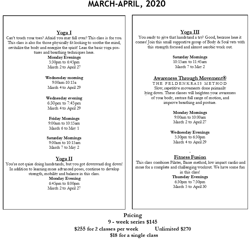 march and april 2020